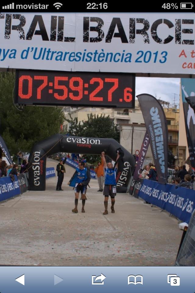Finisher en la MTBCN 2013 después de 42km de barro y piedras