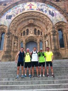 De izq. a der. Raul, Pere, Jordi, Jose y Albert