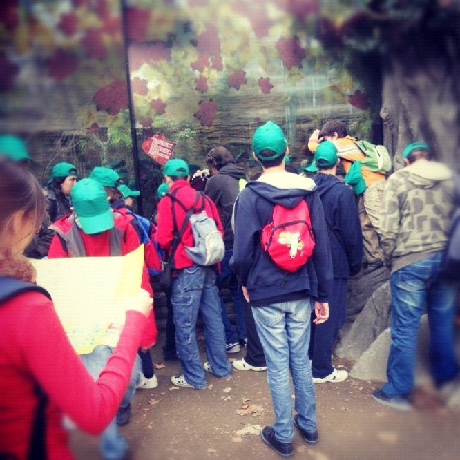 Los chicos de Encert en una de las salidas organizadas por la asociación.
