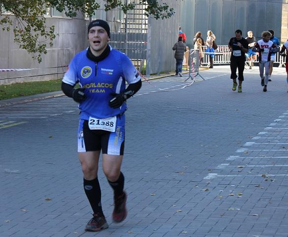 La llegada en la CEC, la 1/2 maratón de Collserola.