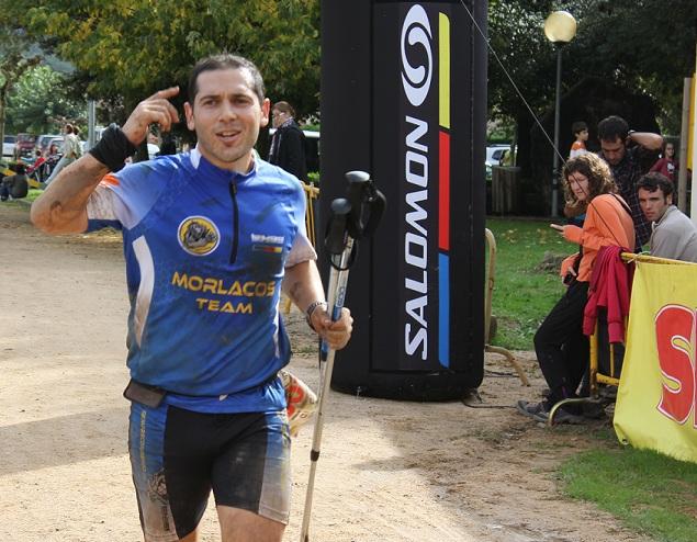 Ivan en la llegada de la Puigscalm Extrem de 2012. Sin duda, la carrera mas dura en la que hemos participado los miembros del team.