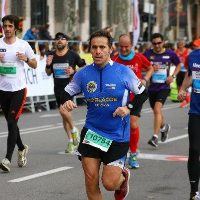 Jordi Cuesta en la 1/2 Marató de Barcelona