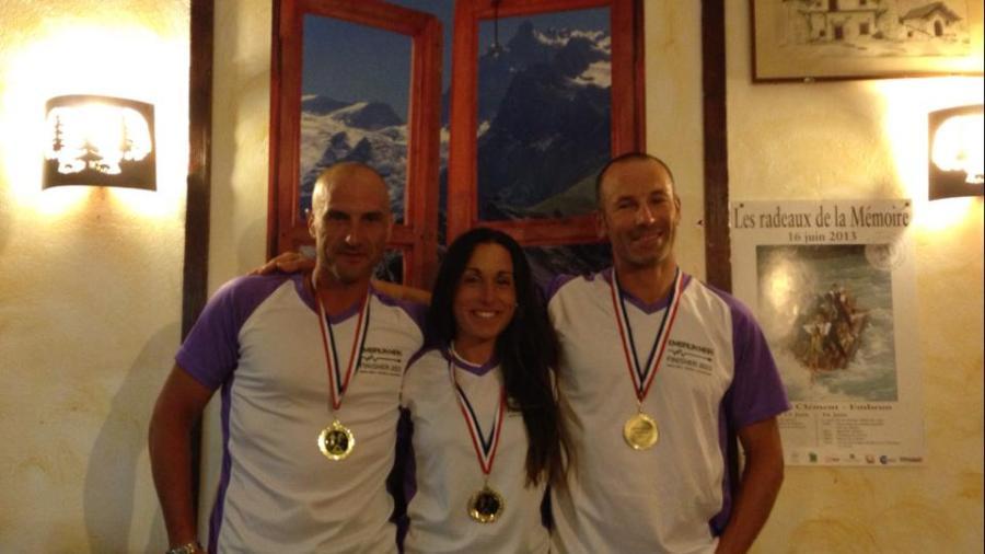 Juanlu, Delia y Enric. Los tres FINISHERS del Embrunman 2013!!