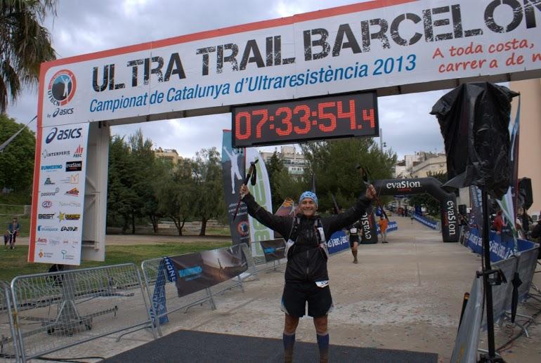 Jordi en su llegada a meta en la MTBCN 2013