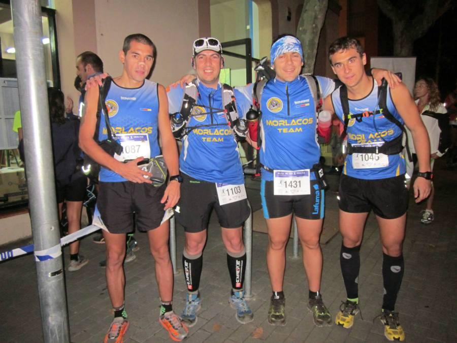 Foto previa a la salida: De Izquierda a derecha: Cesar, Jose Luis, Ivan y Artur.