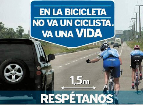 #respetoalciclistaya