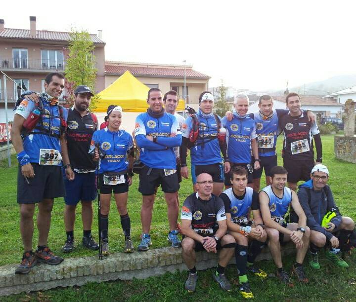 Foto del team antes de la salida en Puigsacalm