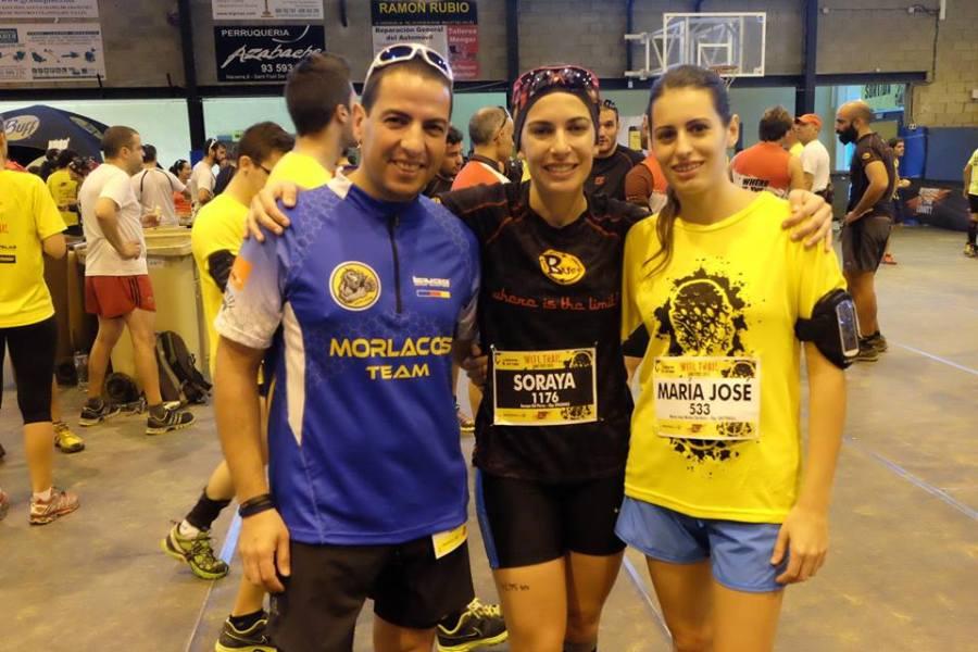 Con Soraya y Maria Jose antes de la salida