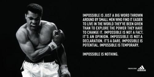 ADIDAS lo tiene claro: Impossible is nothing