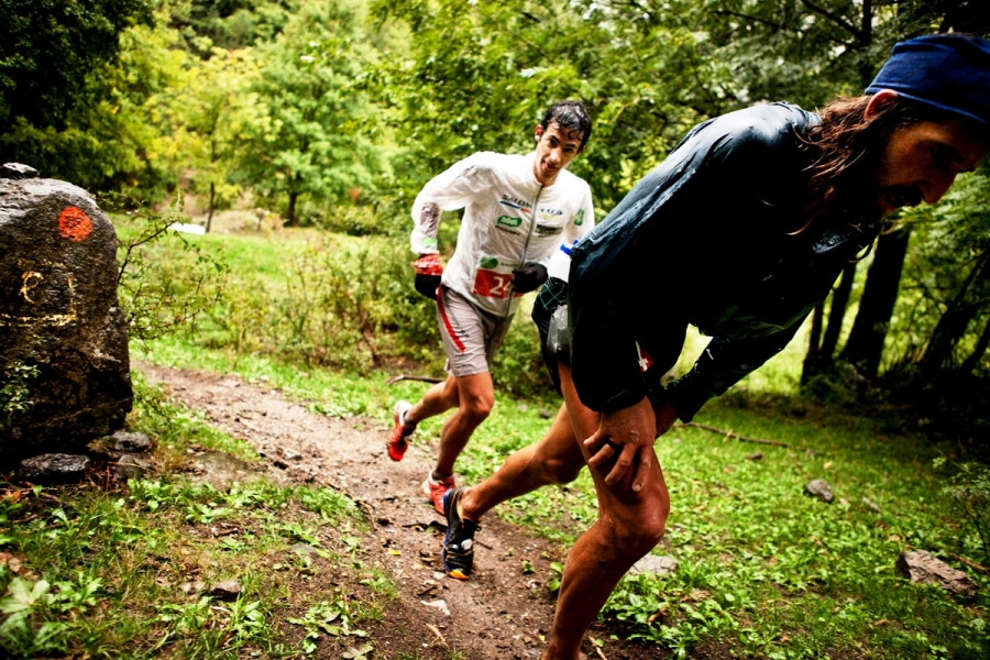 Momento de Cavalls del Vent 2012 con Kilian Jornety Anton Krupicka (Imagen de Jordi Saragossa)