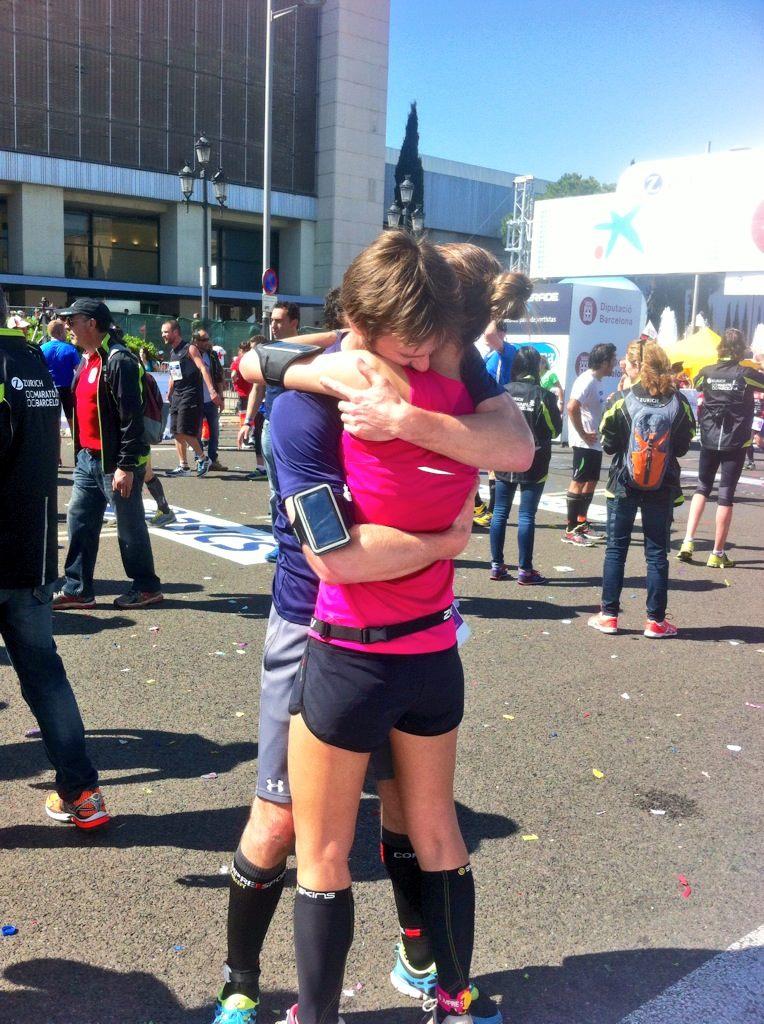 Lo que une el maratón, que no lo separe el hombre.