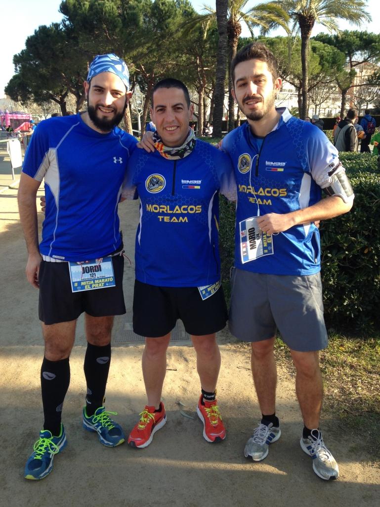 Con Jordi y Mario, que no aparecían en la foto del team