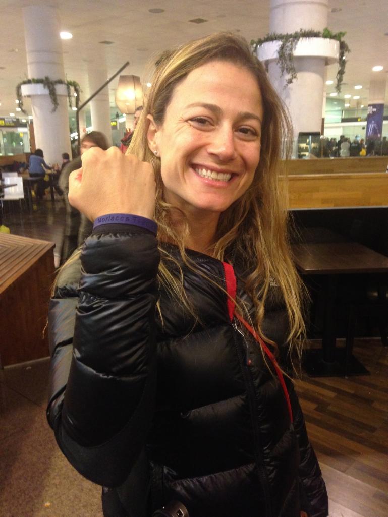 ¡¡¡Fê ya tiene su pulsera del Morlacos Team!!!