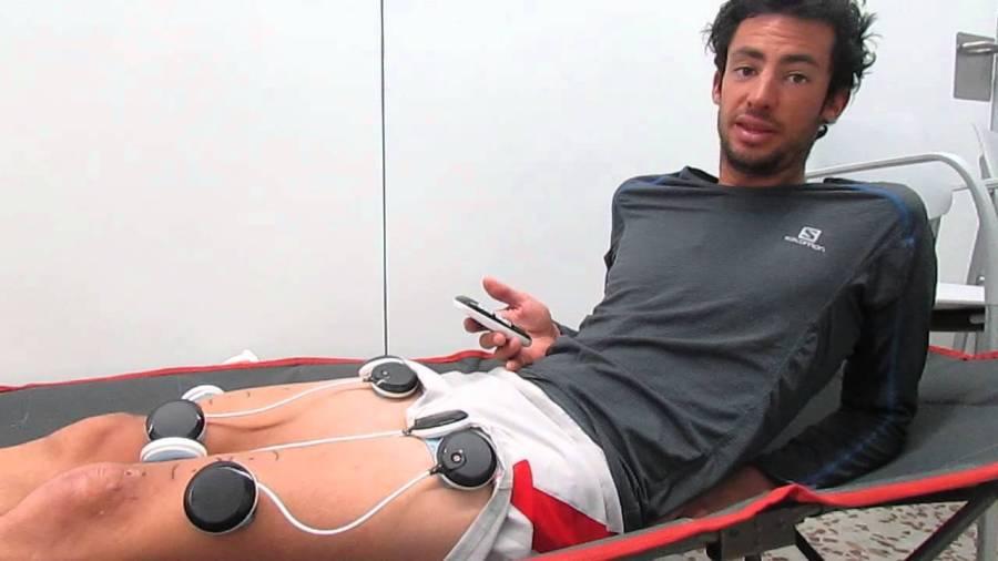 Kilian Jornet en una sesión de recuperación.