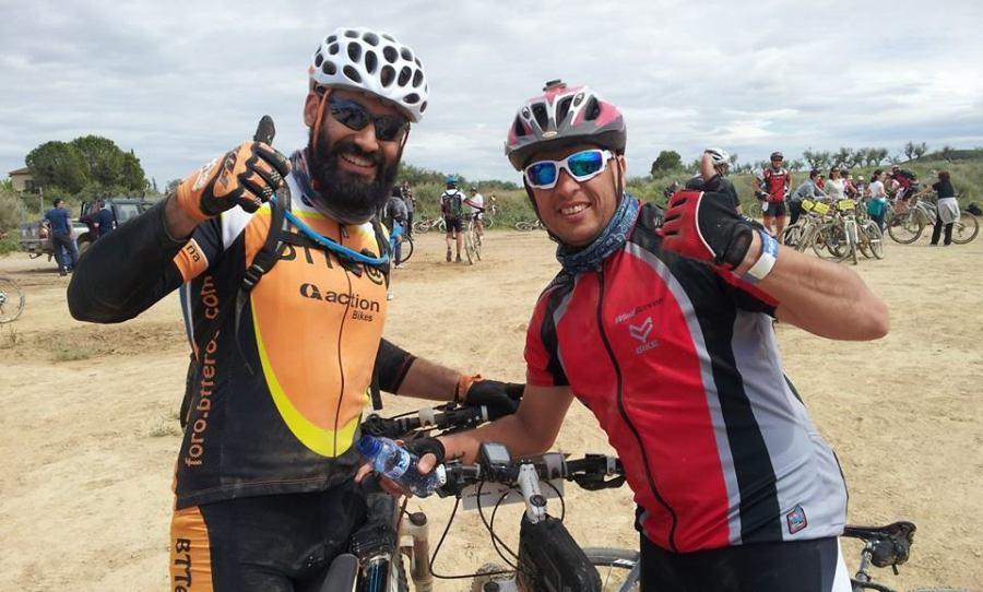 Con Jordi en el kilómetro 30