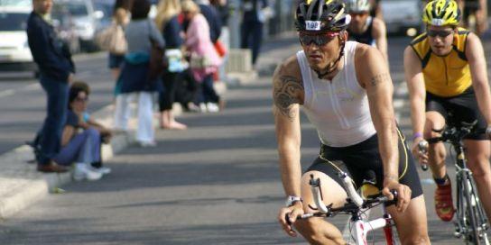 Luis Enrique en el 1/2 Ironman de Lisboa
