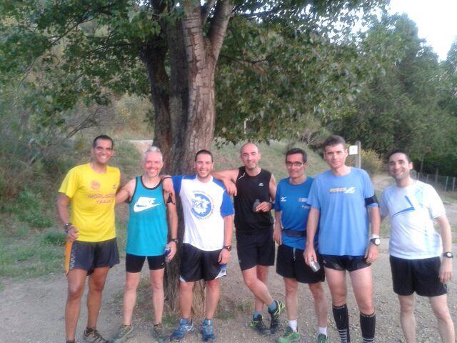 De izquierda a derecha: Manu, Pere, yo, Enric, Albert, Jorge y Toni