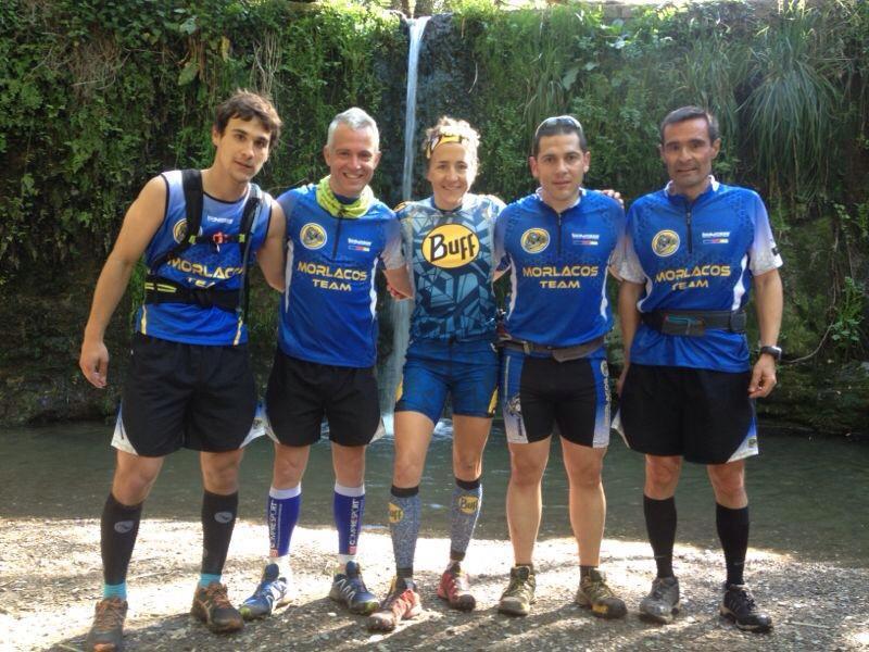 Nuria Picas entrenando con parte del Morlacos Team