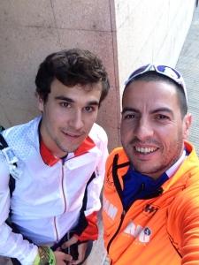 Selfie con Artur a punto de salir del hotel