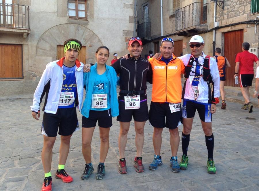 En la salida, con el team. Artur, Carol, David, Jose y Albert