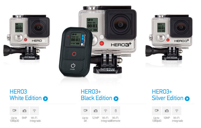 3 versiones de la HERO3