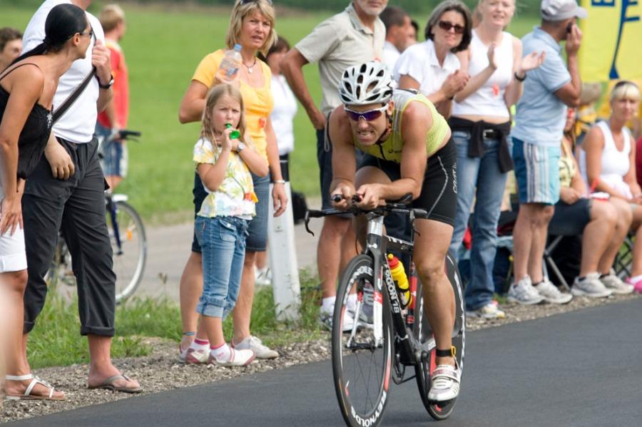 Imagen de Guillermo Lladó en el Ironman de Austria