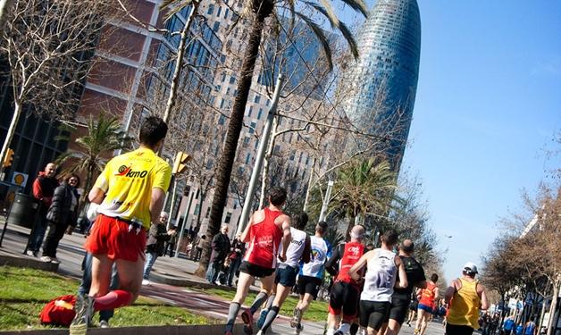 """Uno de los tramos """"complicados"""" del Marató de Barcelona"""