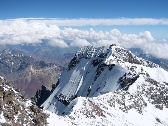 Vista del Aconcagua. Impresionante...